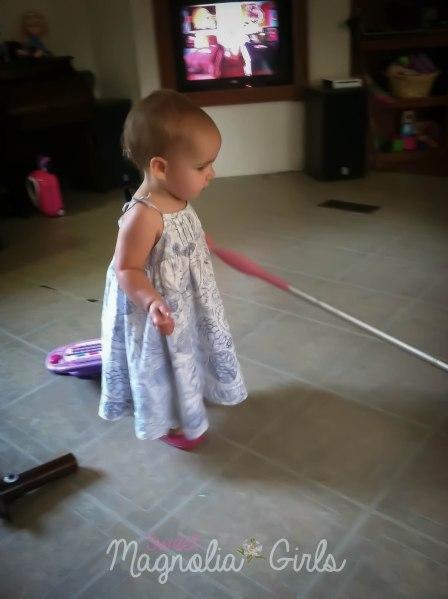 Sissy likes to help!
